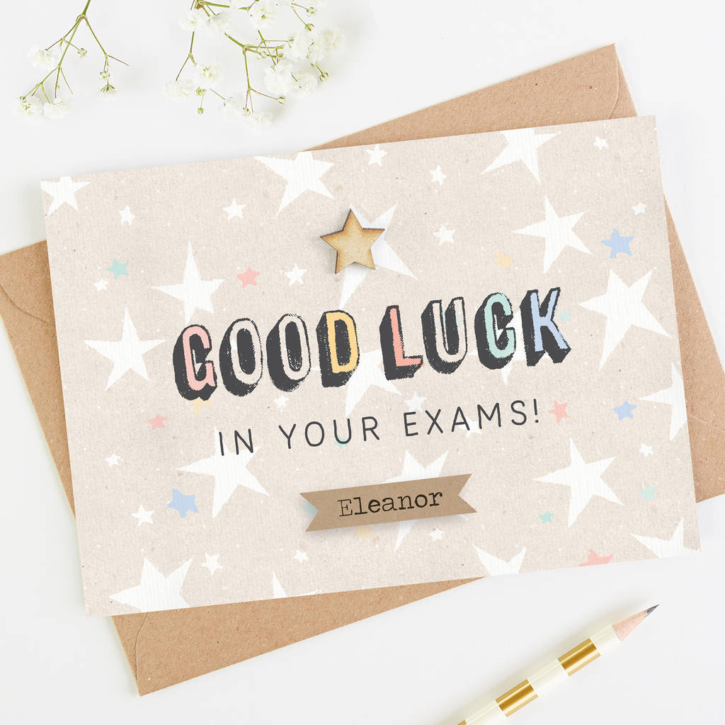 Good luck exam card personalised by normadorothy good luck exam card personalised kristyandbryce Images
