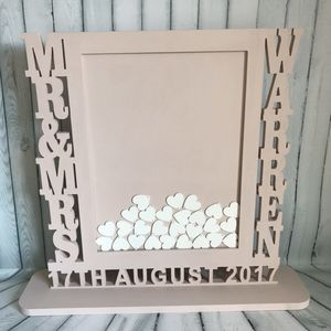 Personalised Wedding Guest Drop Box Guest Book