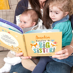 'Now You're The Biggest' Personalised Children's Book - new baby gifts
