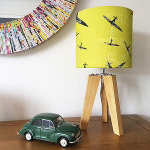 Linen Spitfire Lampshade - bedroom