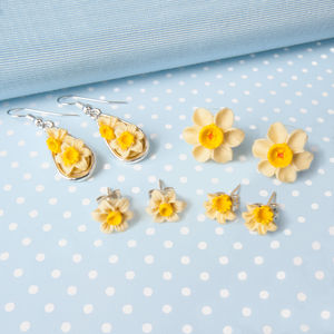 Daffodil Earrings In Four Designs - earrings