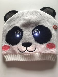Bright Eyes Animal Hats, With LED Lights. Amanda Panda