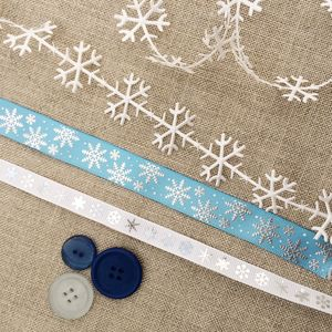Snow Flake Ribbon Collection - cards & wrap