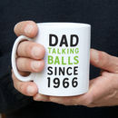 Personalised Talking Balls Since Mug