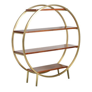 1950s Luxe Round Shelving Unit - dining room