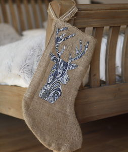 Personalised Hessian Stag Stocking