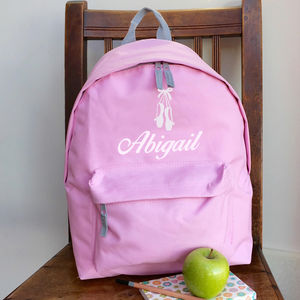 Personalised Ballet Rucksack All Colours