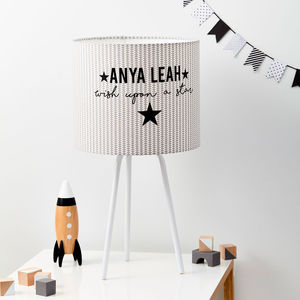 Personalised Wish On A Star Handmade Lampshade - lampshades