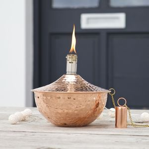 Garden Oil Lamp Copper Or Silver - lighting
