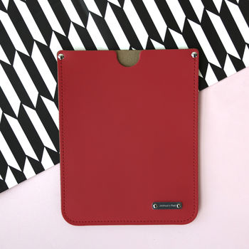 Personalised Leather iPad Sleeve