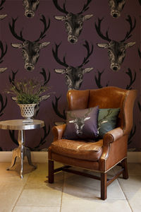 Large Stag Head Wallpaper - wallpaper