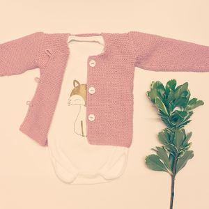 Pale Rose Knitted Cardigan - clothing