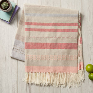 Mexican Picnic Blanket In Neutral Tones