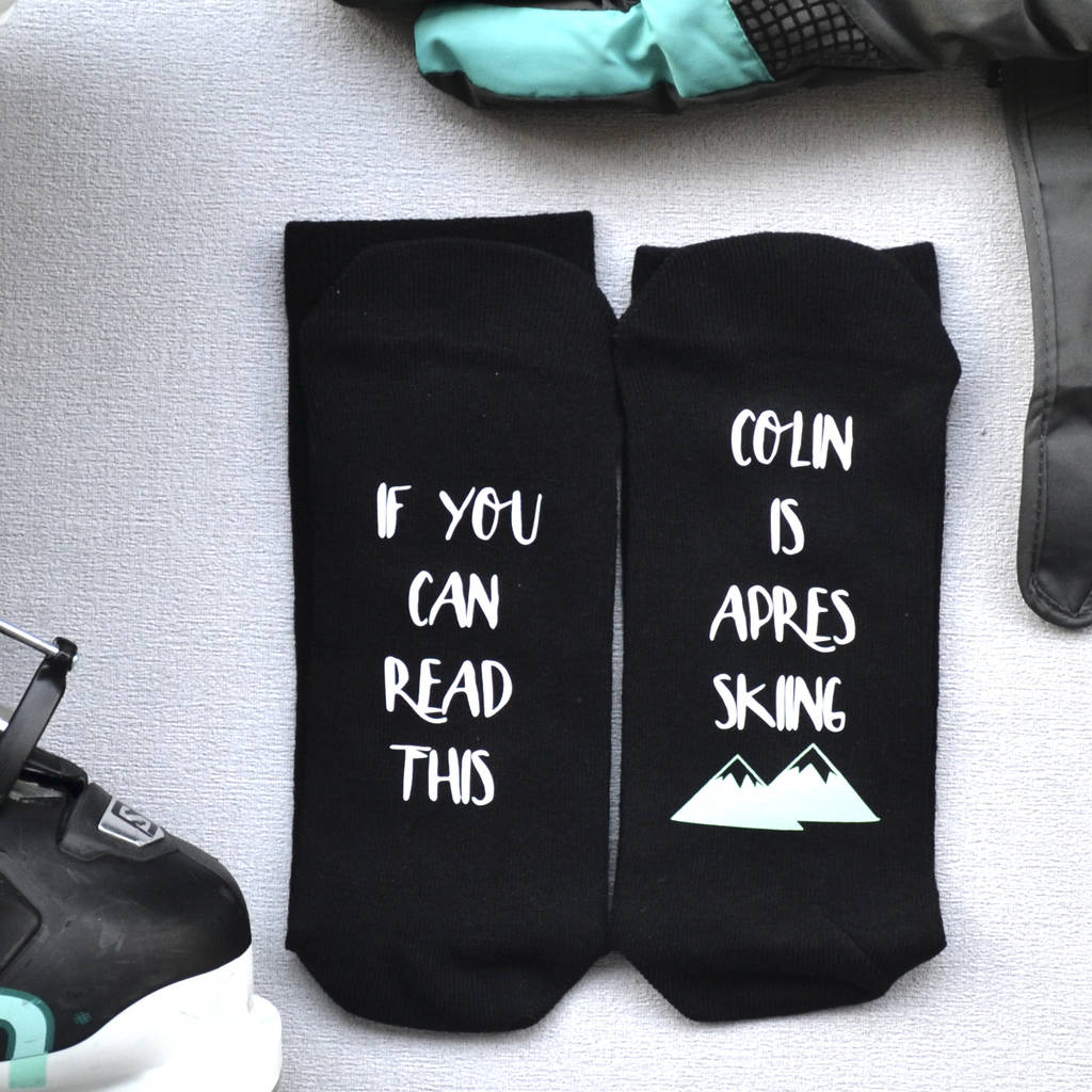 Personalised Apres Ski Socks