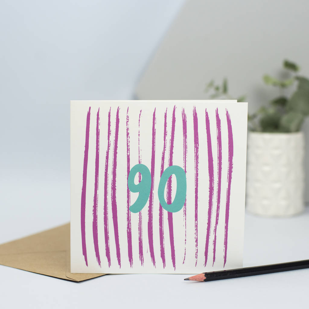 Card For 90th Birthday90 Years Old