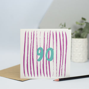 Card For 90th Birthday,90 Years Old