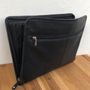 Professional Black Leather Portfolio, A4 Business Case