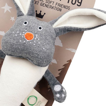 Bunny Rabbit Soft Toy Rattle: Organic Cotton