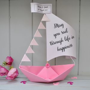 Personalised Wedding Sail Boat Card - wedding cards & wrap