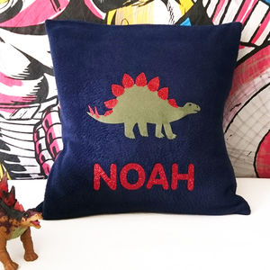 Stegosaurus Personalised Dinosaur Cushion