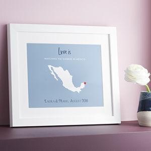 Limited Edition Valentine's Love Location Print - love is real