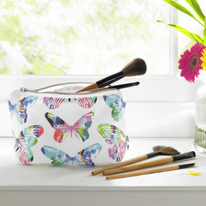 Tropical Butterfly Cosmetic Bag