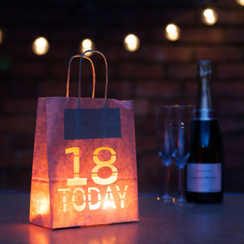 18 Today! Bold Birthday Party Decoration Bag