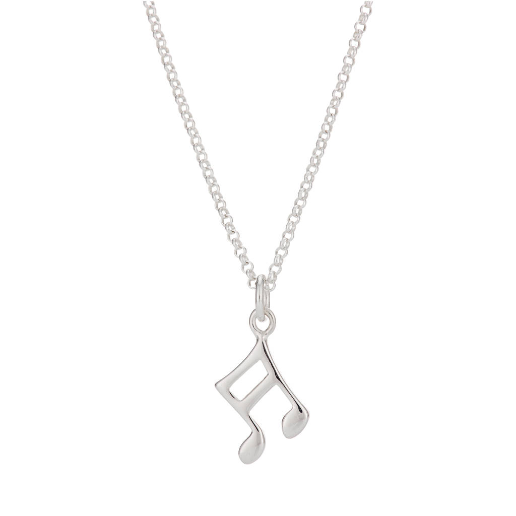 note p music gold pendant polished sp musical
