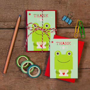 Children's Mini Thank You Cards Frog - thank you cards