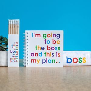 Be The Boss Doodle Pad With Pencils And Pencil Case - pens & pencils