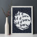 Let It Snow Christmas Print