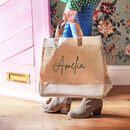 Personalised Hand Painted Natural Tote Bag