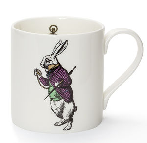 White Rabbit Fine Bone China Mug - mugs
