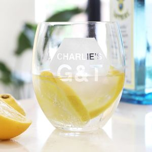 Personalised 'G And T' Gin Tumbler - drink & barware