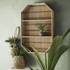Rectangular Bamboo Shelf