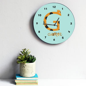 Personalised Name Clock - children's room accessories