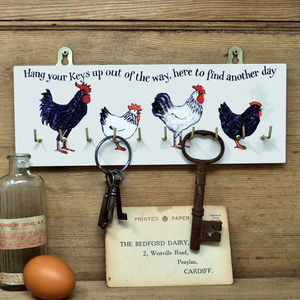 Breed Of Hens Key Rack