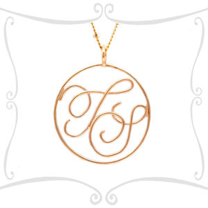 9ct Solid Gold Monogram Pendant