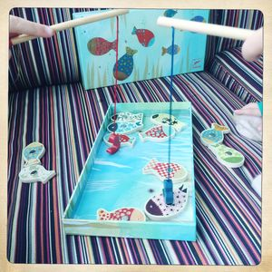 Wooden Magnetic Fishing Games