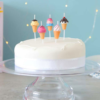 Ice Cream Birthday Cake Candles