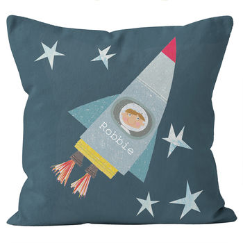 Personalised Space Boy Cushion