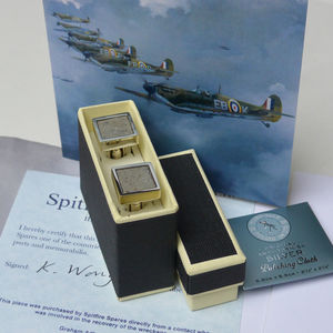 Spitfire Sterling Silver Cufflinks - gifts for grandparents