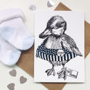Personalised Blue Duckling Greeting Card