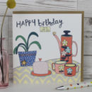 Birthday Card Tea And Cake Theme