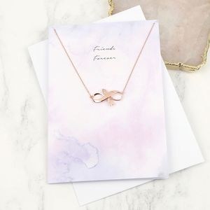 Arrow Necklace And 'Friends Forever' Greetings Card
