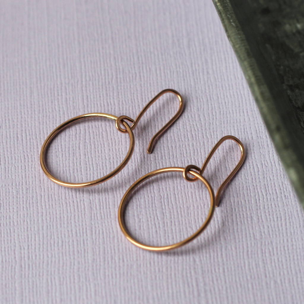 Simple Circle Rose Gold Earrings