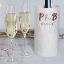 Wedding Marble Wine Cooler With Monogram