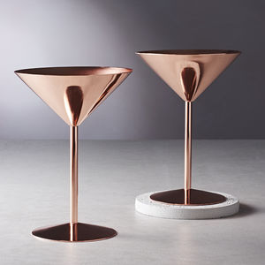 Copper Rose Cocktail Glass - table decorations