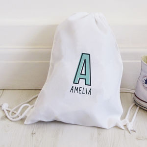 Personalised Monogram Drawstring Bag - backpacks