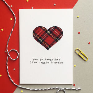 'You Go Taegether' Scottish Greetings Card - engagement cards
